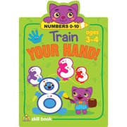 Train Your Hand Skill Book-Numbers 0-10 - Ages 3-4