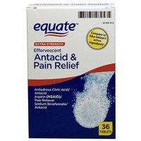 Equate Effervescent Antacid Tablets, Extra Strength, 36 Tablets