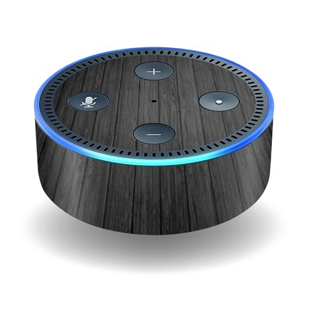 Skin Decal Wrap For Amazon Echo Dot  2Nd Generation  Stickers Black Wood