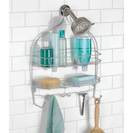 iDesign Neo Wire Shower Caddy in Silver, Large (Neo Bath Accessories)
