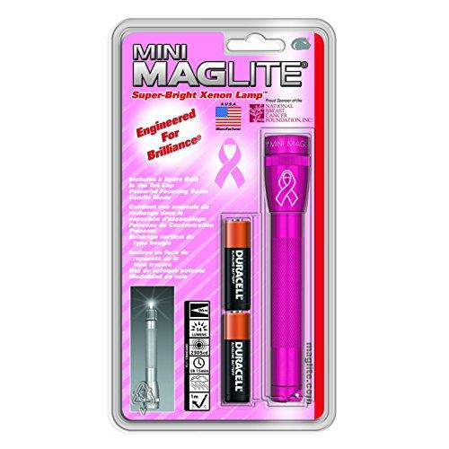 Maglite Mini Incandescent 2-Cell AA National Breast Cancer Foundation Flashlight, Pink