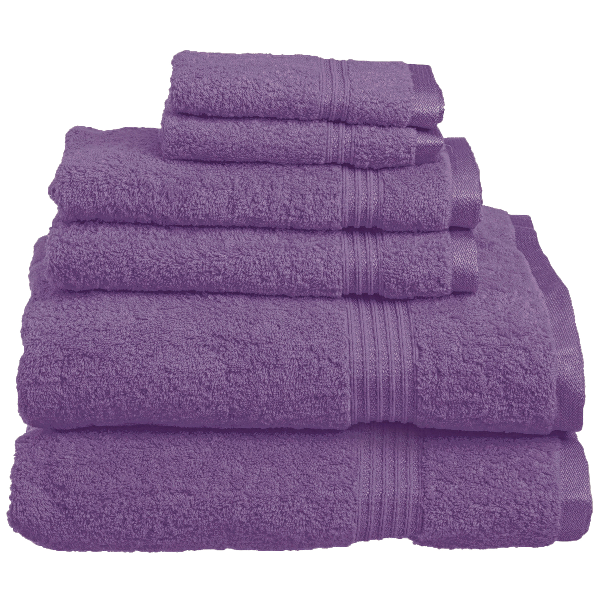 Superior 600GSM Long-Staple Combed Cotton 6-Piece Towel Set