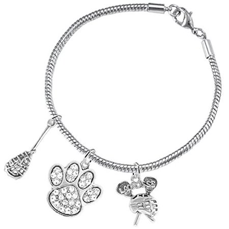 Lacrosse Jewelry, Clear Crystal Paw Jewelry, ©2015 Hypoallergenic Safe-Nickel, Lead And Cadmium Free! Lacrosse Jewelry Clear Crystal Paw Jewelry 2015