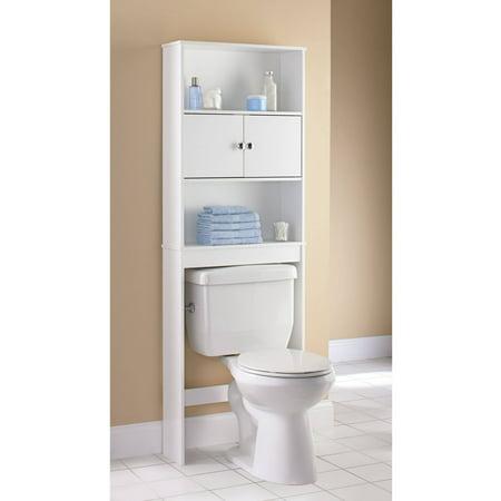 Mainstays Bathroom Space Saver White Walmart Com