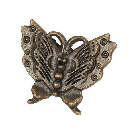 Unique Bargains Cupboard Drawer Dresser Butterfly Shape Pull Handle Knob Bronze -