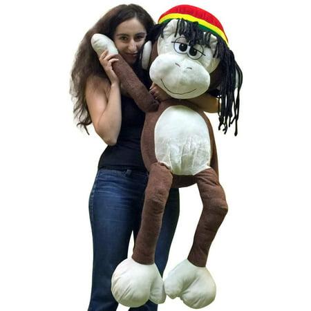 Giant Stuffed Rasta Monkey 48 Inches Jumbo Plush 4 Foot Big Stuffed