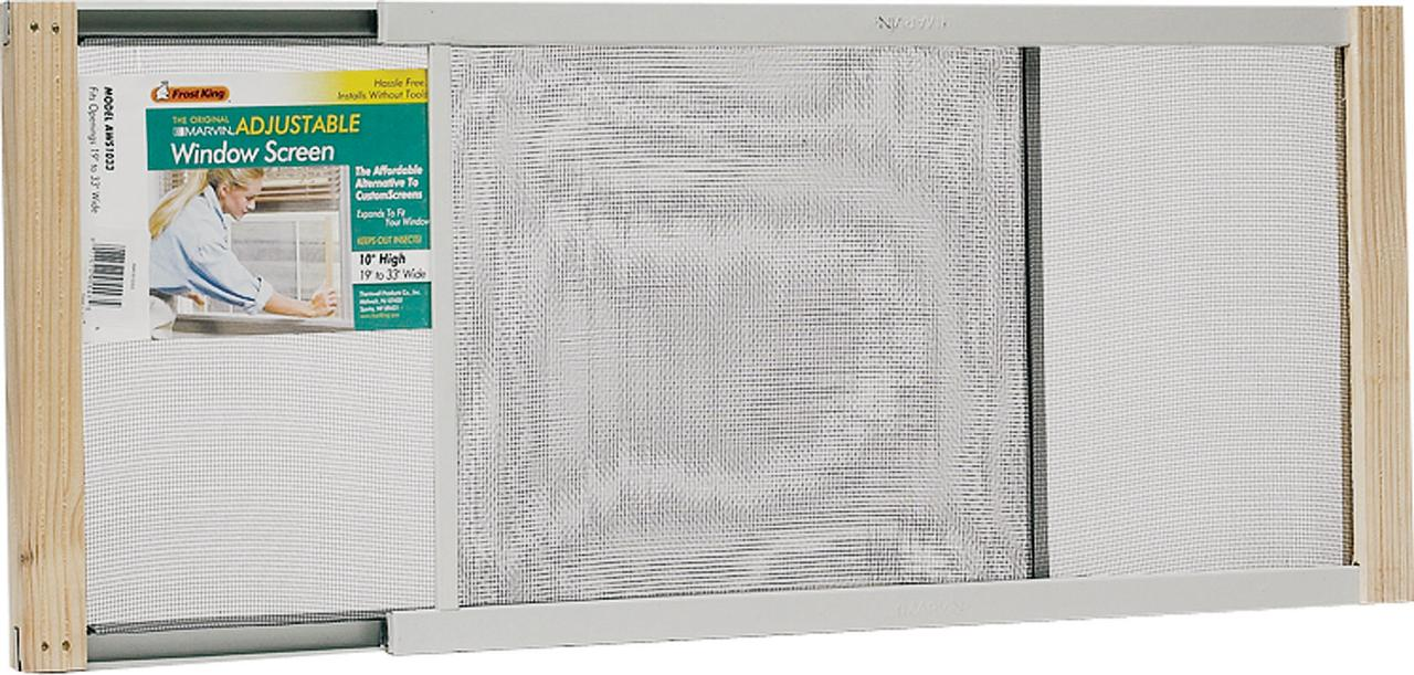 Great Frost King AWS1533 Adjustable Window Screen, 15 In H X 20   33 In W