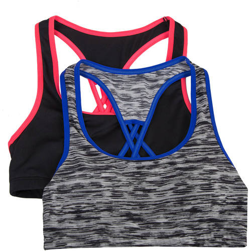 Generic Fruit Of The Loom Girls' Micro Stretch Sports Bra 2 Pack