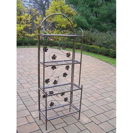 Bronze Antique Shelf - 4 Shelf Bakers Rack in Antique Bronze