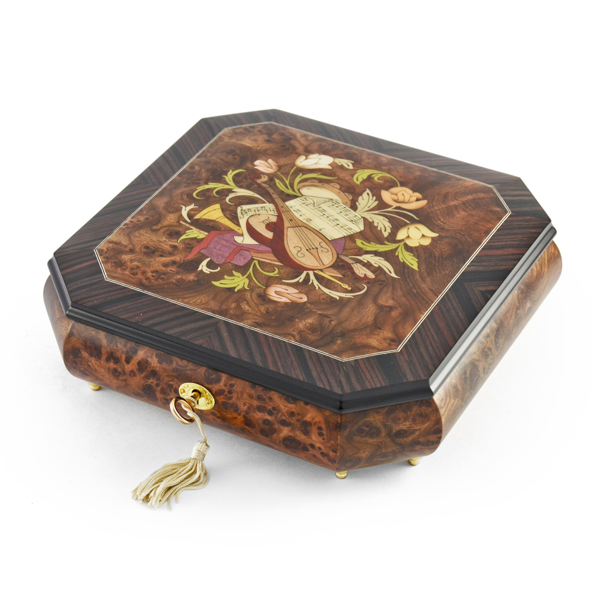 Perfectly Hand Crafted Floral Music Jewelry Box HUGE SALE Singing