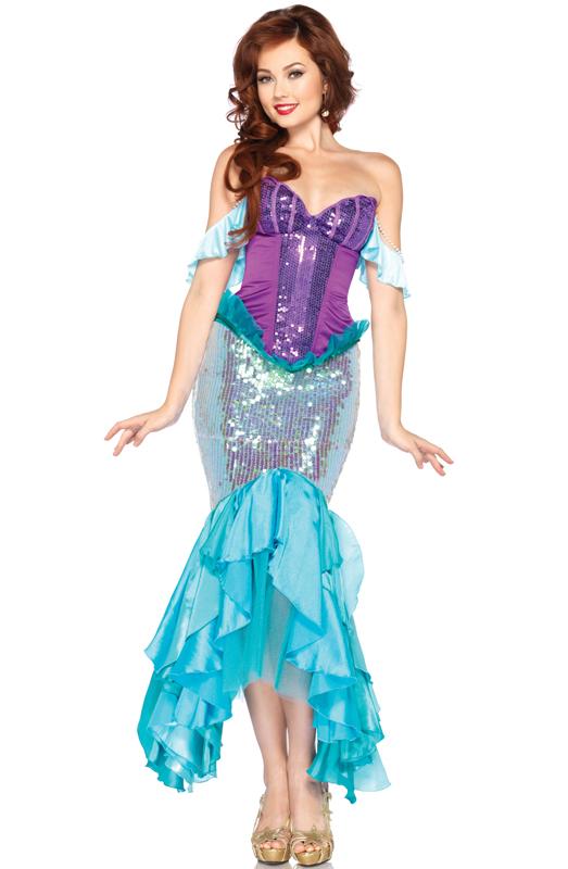 Adult Disney Princess Deluxe Arial Mermaid Costume by Leg Avenue DP85051 by Leg Avenue