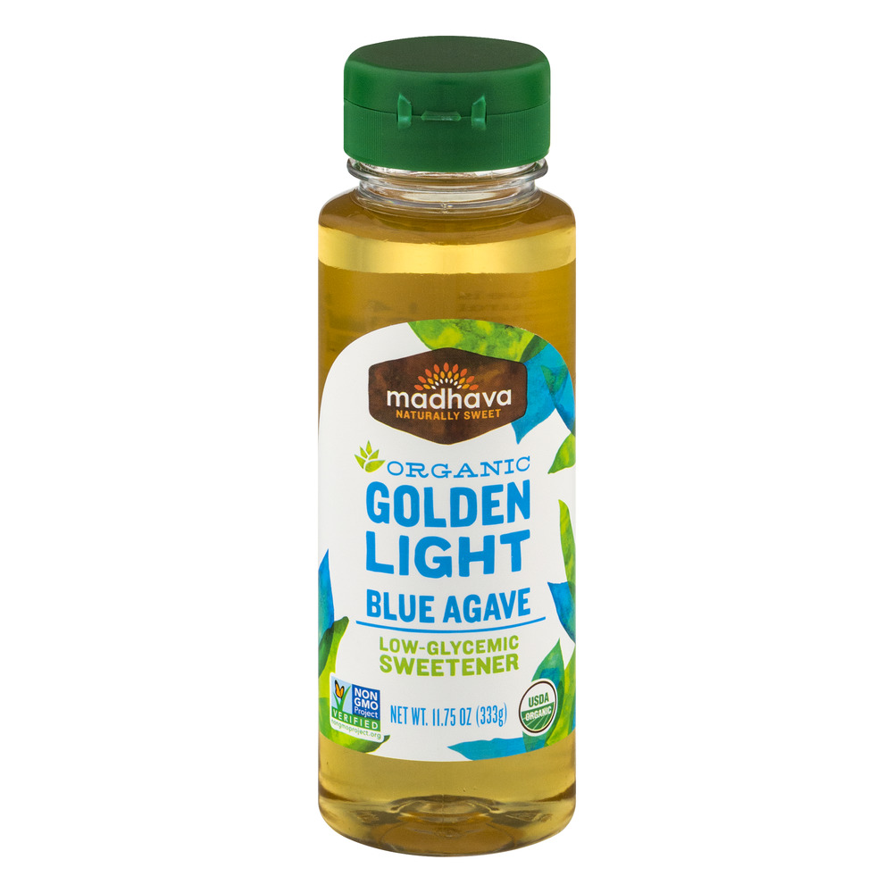 Madhava Organic Golden Light Blue Agave Low-Glycemic Sweetener, 11.75 OZ