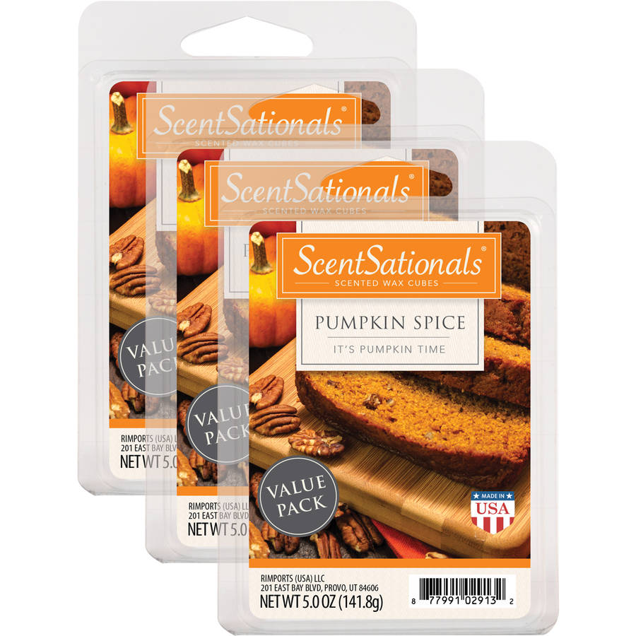 ScentSationals 3-Pack Value Wax, Pumpkin Spice