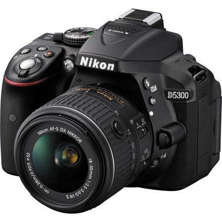 Nikon D5300 24.2 MP CMOS Digital SLR Camera with Nikkor AF-S 18-55mm f/3.5-5.6G AF-S DX VR Lens (Black) International Version