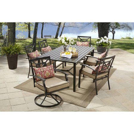 Better homes and gardens carter hills 7 piece dining set for Jardin 8 piece dining set