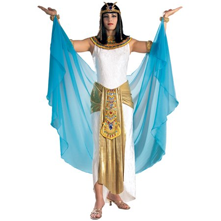 Womens Costume Egyptian Queen Outfit Cleopatra Dress S Womens U.S. Small (sizes 6-10) - Cleopatra Dress