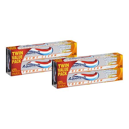 Aquafresh Flavored Toothpaste - (4 Pack) Aquafresh Extreme Clean Mint Blast Fluoride Toothpaste Twin Pack, 5.6 oz