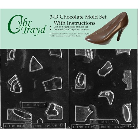 Lead Jig Molds (Cybrtrayd E209AB Chocolate Candy Mold, Includes 3D Chocolate Molds Instructions and 2-Mold Kit, Jigsaw Puzzle Bunny )