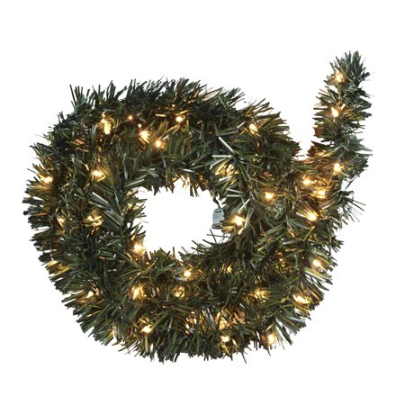 pine garland clear lights easy installation