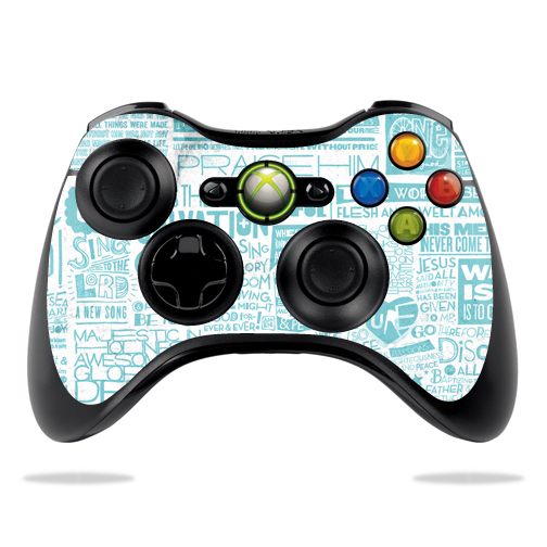 Protective Vinyl Skin Decal Cover for Microsoft Xbox 360 Controller wrap sticker skins Faith