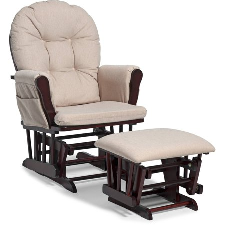 bowback glider rocker and ottoman beige cushions choose your finish