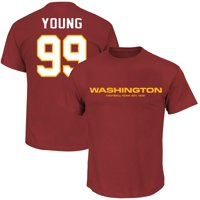 Chase Young Washington Football Team Fanatics Branded Big & Tall Player Name & Number T-Shirt - Burgundy