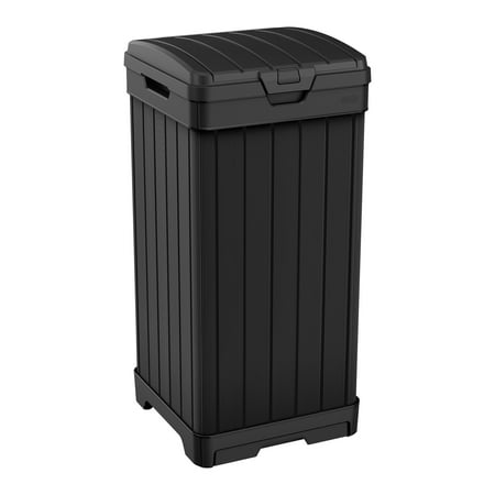 Walmart Outdoor Trash Cans Extraordinary Keter Baltimore Duotech Outdoor Trash Can Resin Wastebin Black