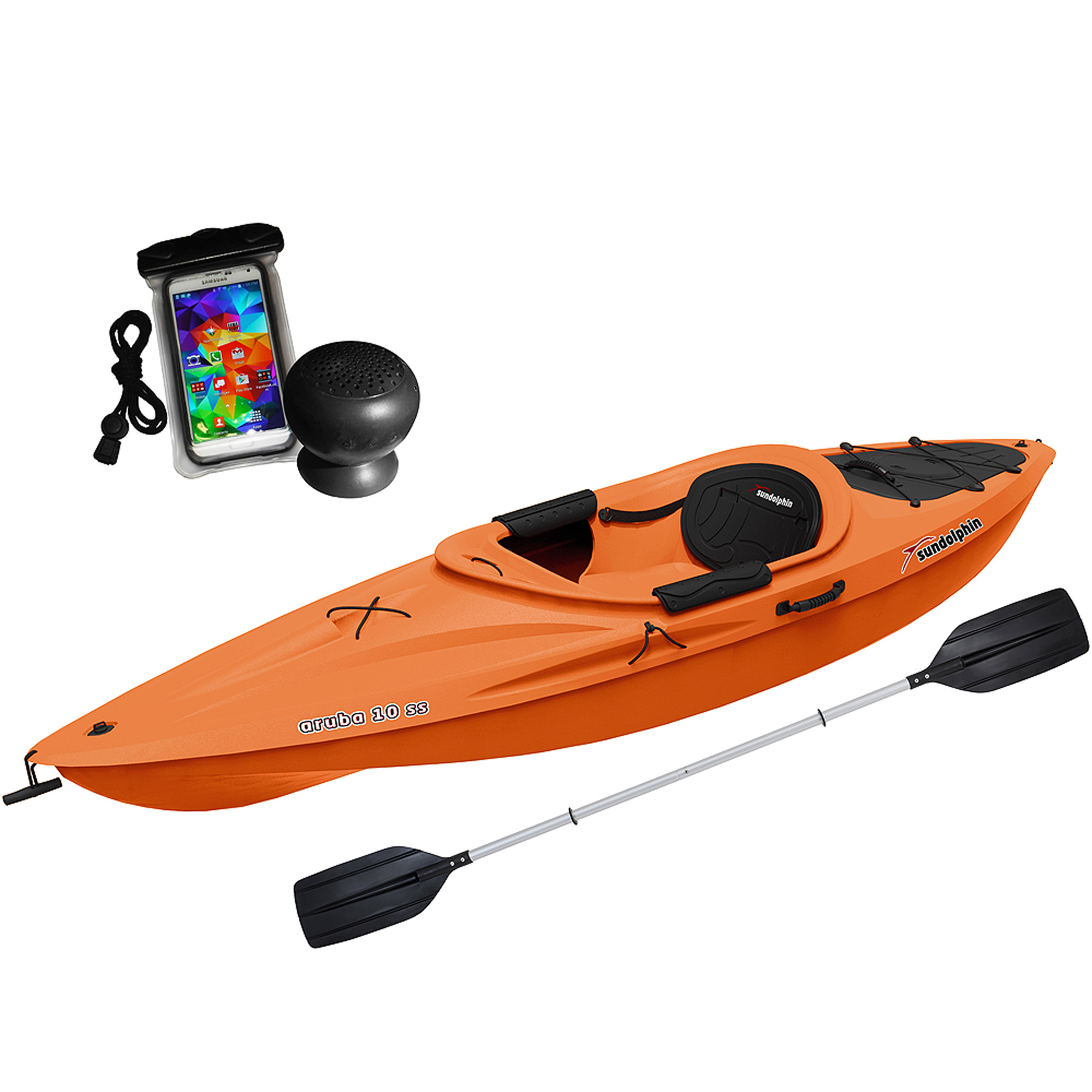 Sun Dolphin Aruba 10 SS with Speaker and Bag, Paddle Included