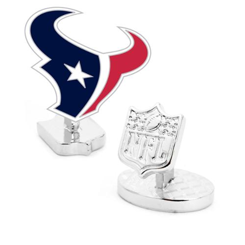 NFL Mens Palladium Houston Texans Cufflinks NEW with Gift Box PD-TEX-PP