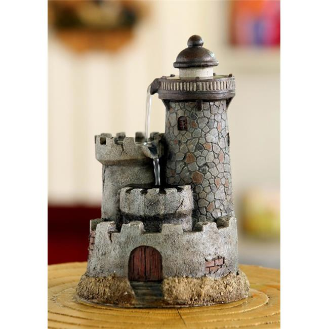 Jeco FCT109 Lighthouse Tabletop Water Fountain