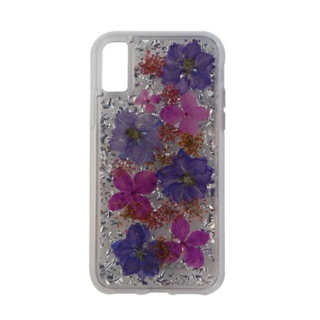 Case-Mate Karat Petals Series Protective Case Cover for iPhone X 10 Purple Petal (Refurbished)