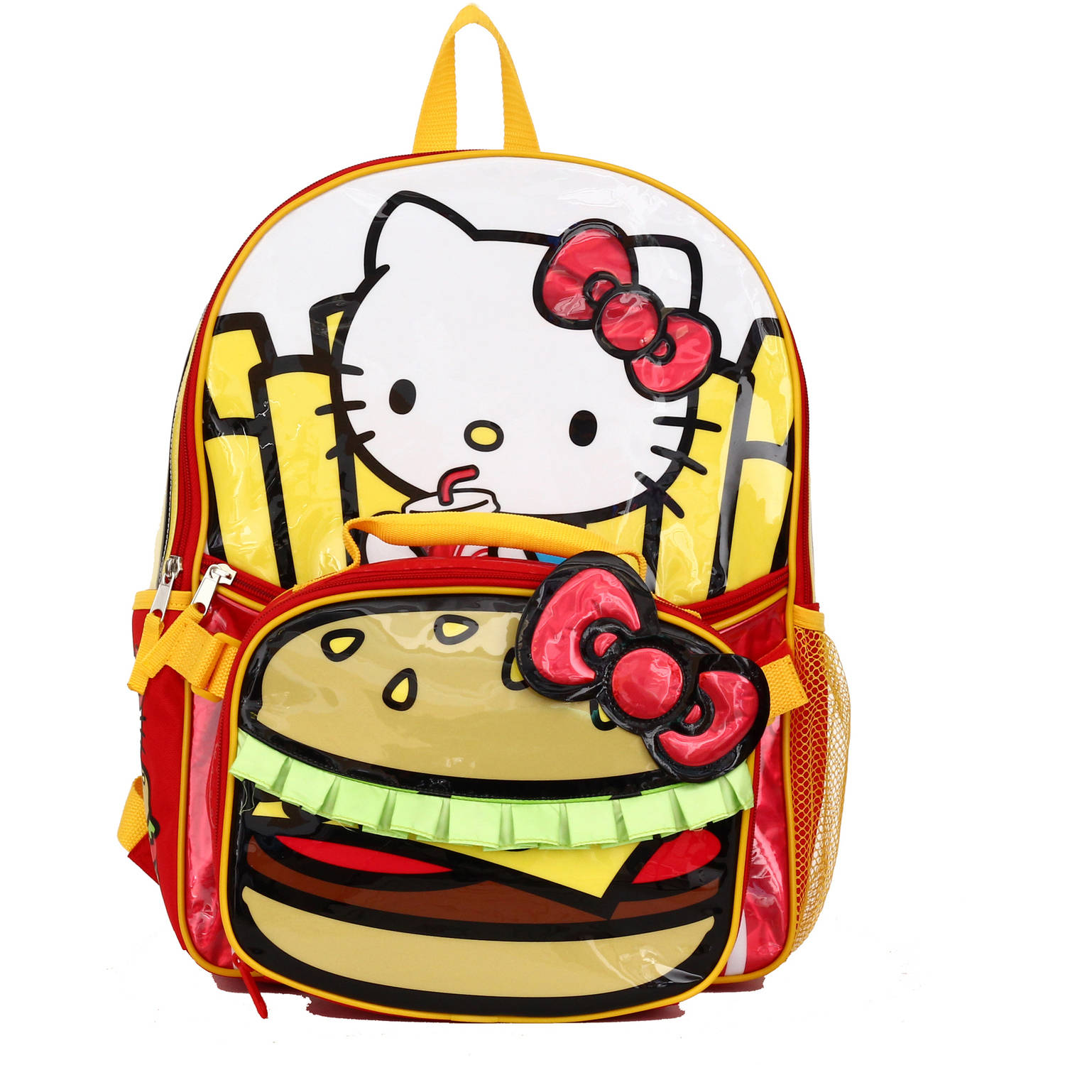 "Hello Kitty ""Burger and Fries"" Backpack with Lunch Kit"
