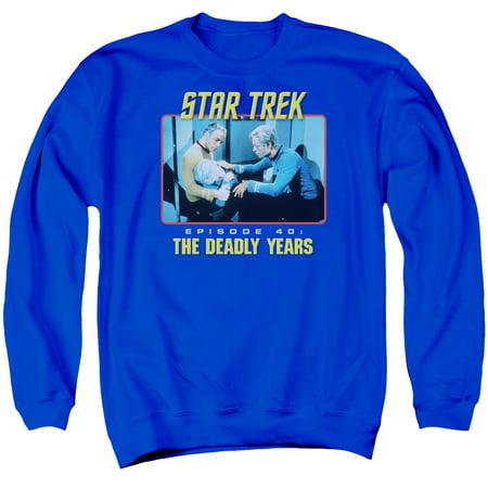 Star Trek Original Tvseries Episode 40 Kirk Spock   Mccoy Adult Crew Sweatshirt