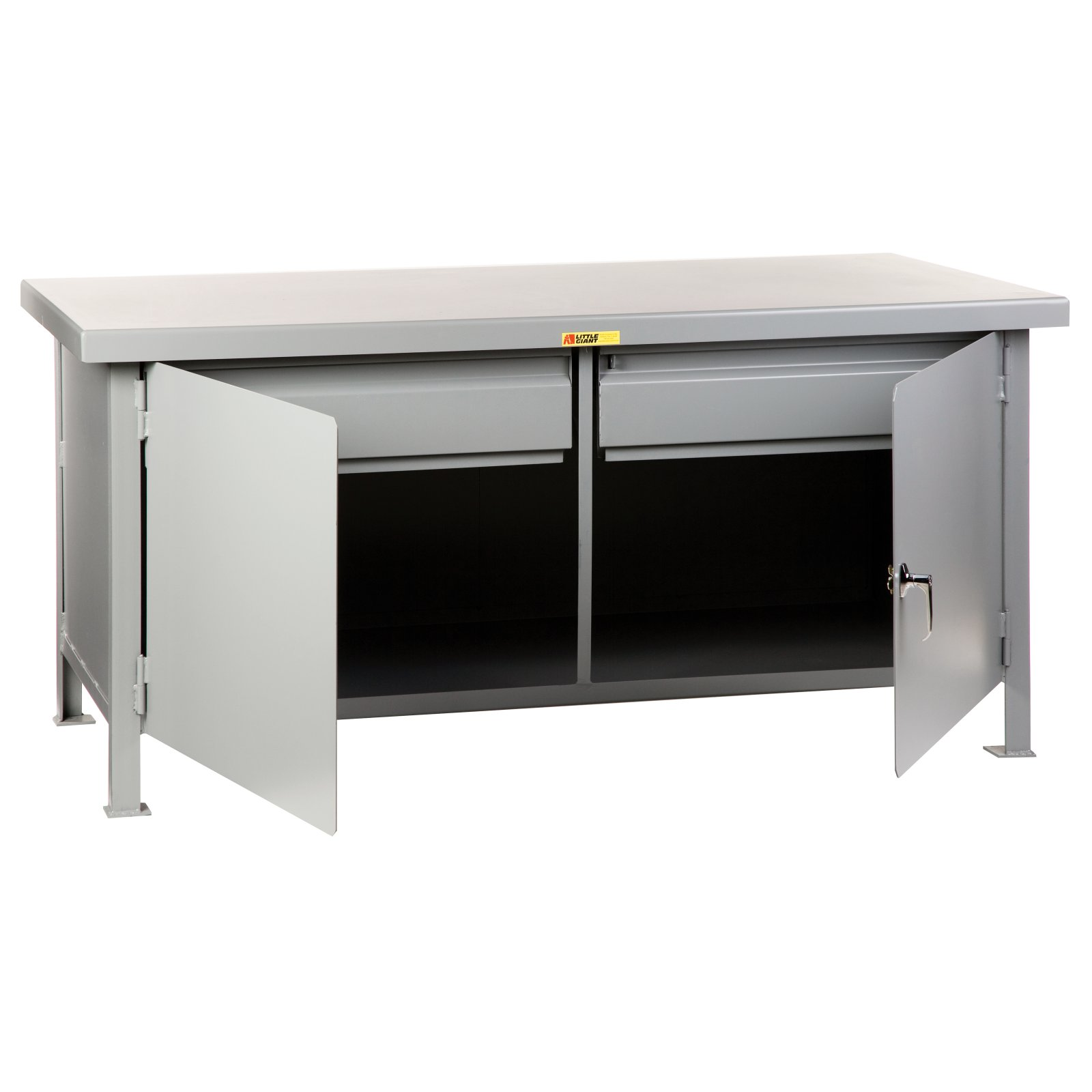 Little Giant Heavy Duty Cabinet Workbench with 2 Drawers by Brennan Equipment and Manufacturing Inc