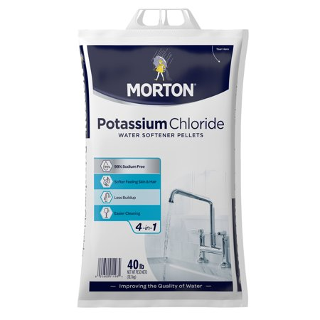 Morton® Potassium Chloride Water Softener Salt Pellets, 40 lb.