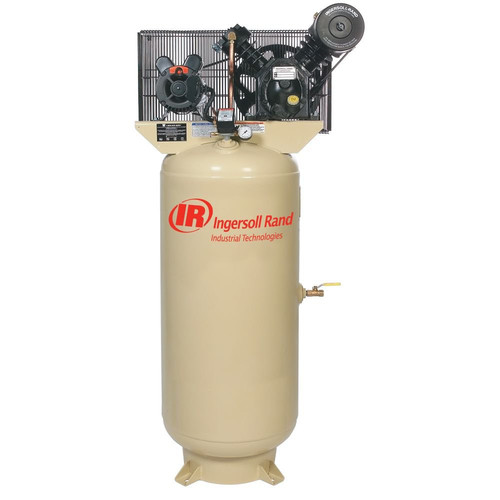 Ingersoll Rand 2475N7.5-P1 7.5HP 230/1 2475N7.5-P Two Stage Cast Iron Air Compressor
