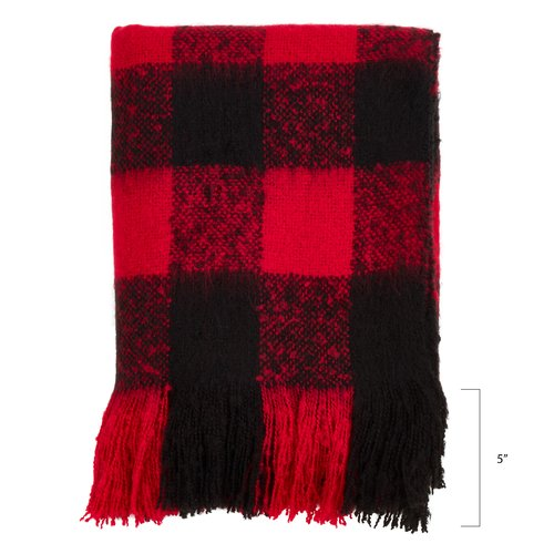 Gracie Oaks Caulkins Faux Mohair Throw