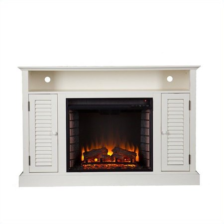 Southern Enterprises Savannah Media Electric Fireplace in Antique White - image 5 of 11