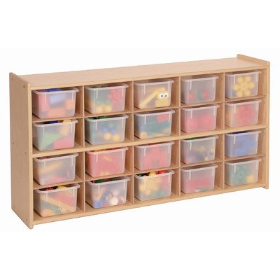 20 Tray Storage Cabinet with Opaque Trays by Steffywood - DROPSHIP