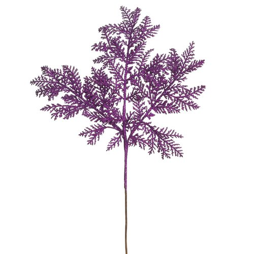 The Holiday Aisle 12 Piece Glitter Cypress Branch (Set of 12)