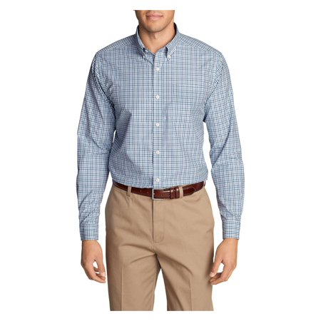 Eddie Bauer Men's Wrinkle-Free Pinpoint Oxford Classic Fit Long-Sleeve Shirt -