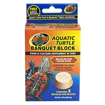 Banquet Block Aquatic Turtle Food 5 Block, Fast shipping,Brand (Turtle Sulfa Block)