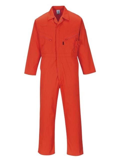 Portwest C813RERXXL Zip Boilersuit, Red - 2X Large