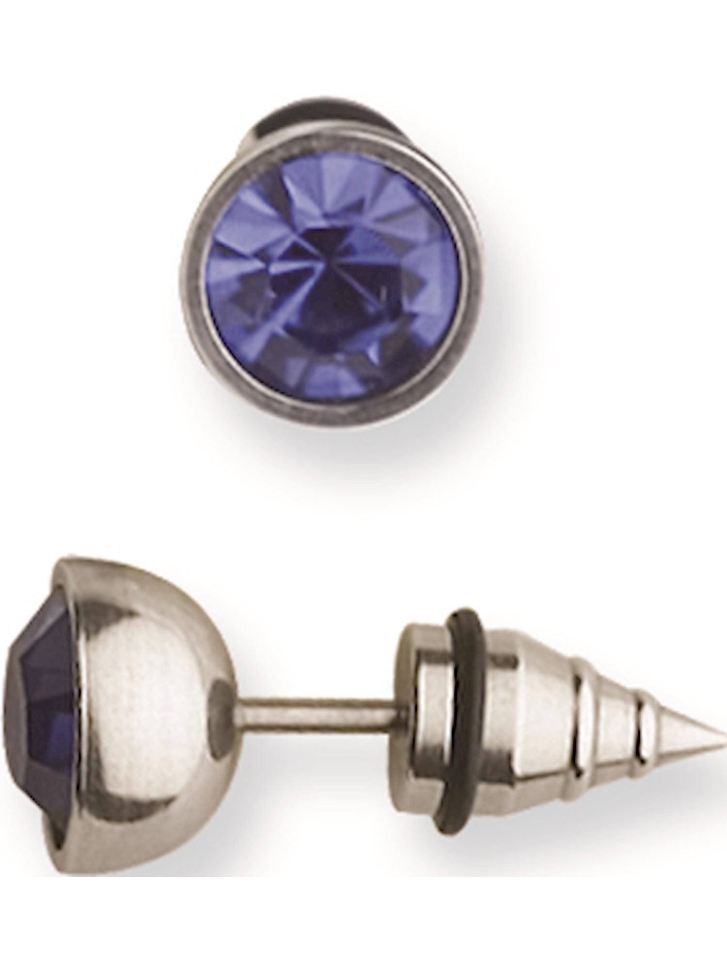 Jewelry by Sweet Pea 316L SRG GR SSTL 14G 13//32Platd Cobalt Ball//Cross Belly Ring