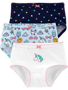 Carters Little Girls 3-pk. Unicorn Icon Brief Panties