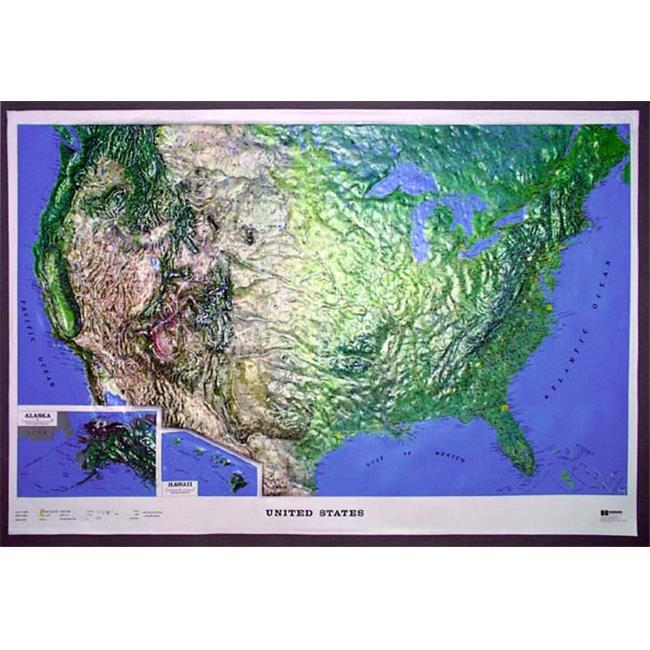 American Educational Products K-Us4228 Us Ncr Series Map