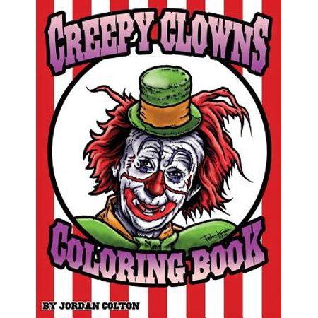 Creepy Clown Adult Coloring Book - Easy Creepy Clown Makeup