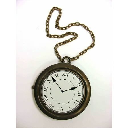 Rappers Clock Necklace Halloween Costume Accessory