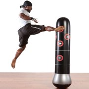 Fitness Punching Bag Inflatable Punching Tower Bag 160cm/5.2ft Freestanding Kicking Bag Boxing Bag De-Stress Boxing Target Bag with Air Pump for Kids Adults