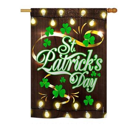 Breeze Decor Lightful St. Patrick's Day 2-Sided Polyester Garden Flag